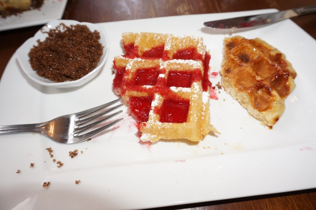 Waffles at Maison Dandoy