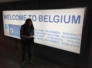 Arrival in Belgium