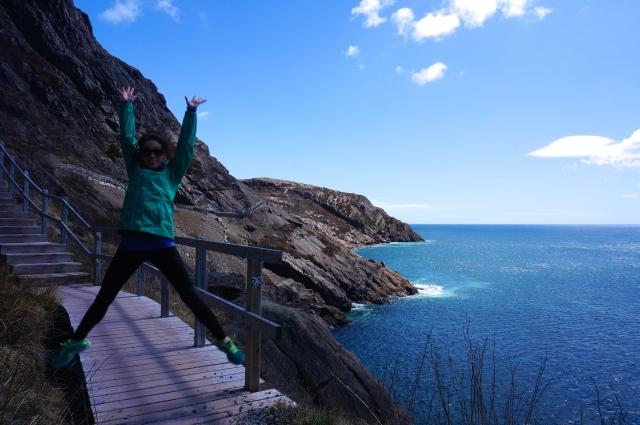 Jessica jumping signal hill